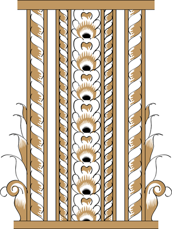 folio: Fragment of black and gold drawing orthodoxy pattern Illustration