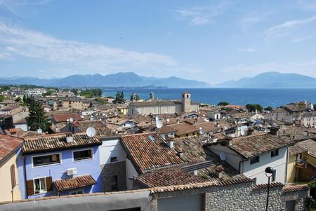 Desenzano del Garda, view of tiled roofs Stock Photo