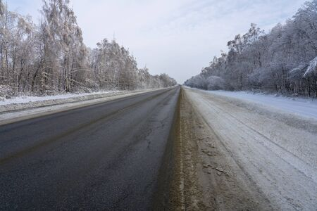 Turn of a winter road