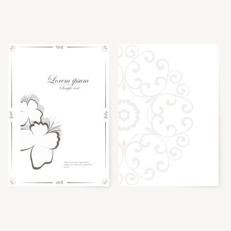 Vector template for folder, brochure, business card and birthday invitation. Vector