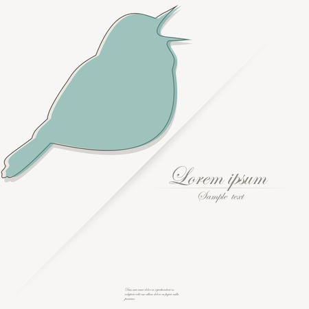 birdsong: Template of brochure with stylized decorative ornamental twitter bird Illustration