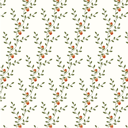 Vector retro floral background with flowers. Element for design vintage wallpaper. Vector