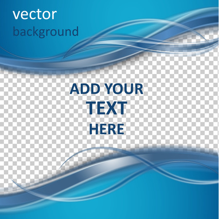 Abstract  vector background with smooth shiny blue waves
