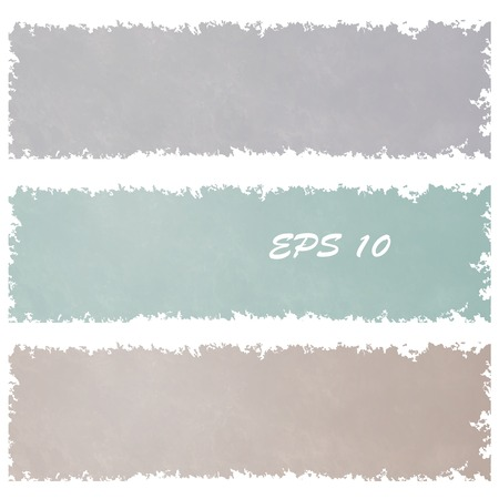 Set of grungy banners in vintage colour. Element design. Vector