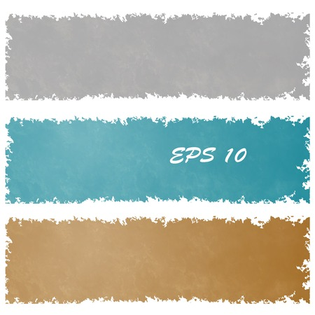 Set of grungy banners in vintage colour. Element design.