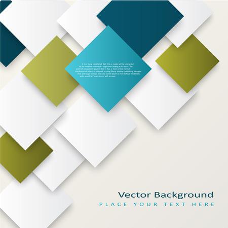 正方形の抽象的なベクトルの背景。テンプレートは、あなたのテキストに合わせて  イラスト・ベクター素材
