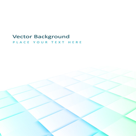 Abstract perspective background with square tiles. Design element