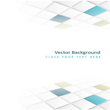 Abstract perspective background with square tiles. Design element Vector