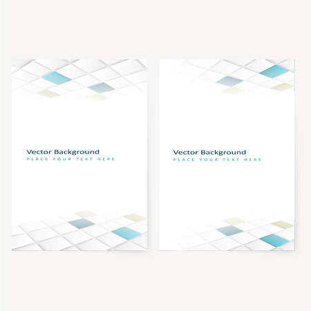 prospect: Abstract  template geometric flyer with color squares. Design element