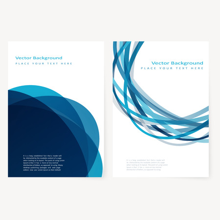 Set of abstract template flyer with color circles. Design element Illustration