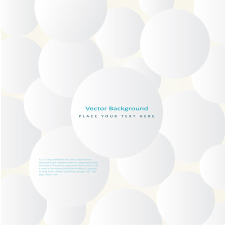simple background: Abstract vector background with simple white circles Illustration