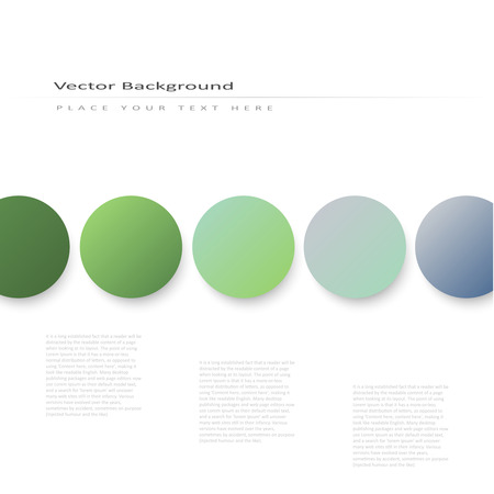 Abstract vector background with volume color circles Vector