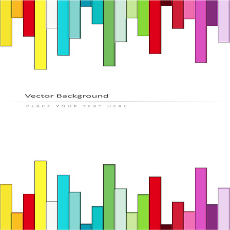 sequential: Abstract vector background with color rainbow stripes Illustration