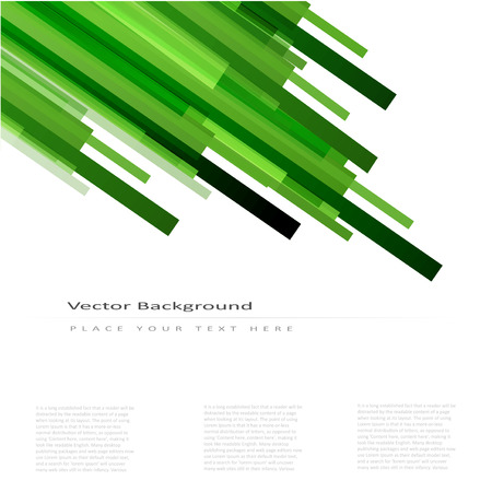 Abstract vector background with green straight lines