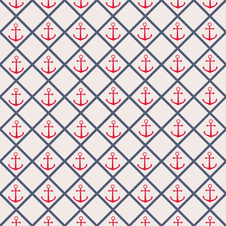 cellule: Seamless pattern with cross lines and anchor