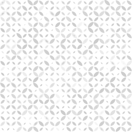 Seamless retro grey, gray pattern with geometric ornament