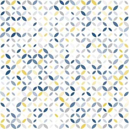 幾何学的な飾りとシームレスなレトロな色パターン