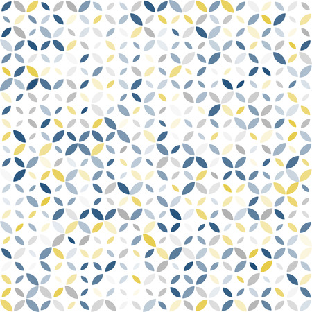 Seamless retro color pattern with geometric ornament