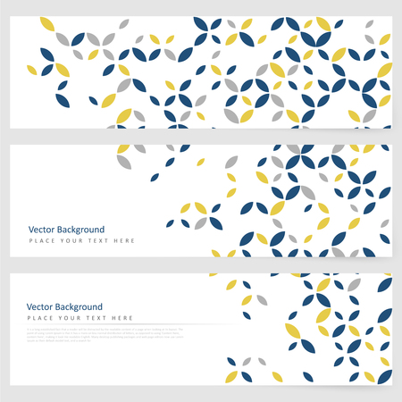 Abstract template horizontal banner with geometric ornament