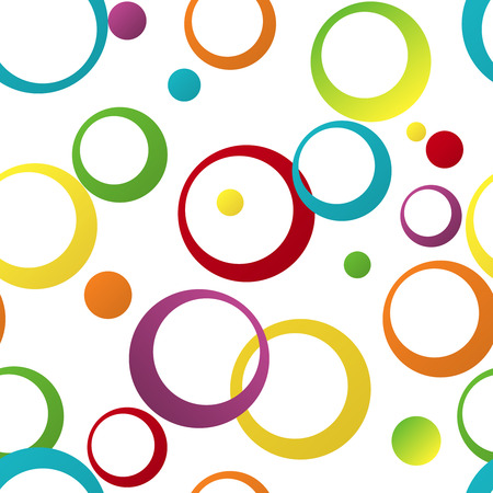 circles pattern: Seamless color pattern with geometric ornament the rings Illustration