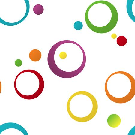幾何学的でシームレスな色パターンの飾りリング