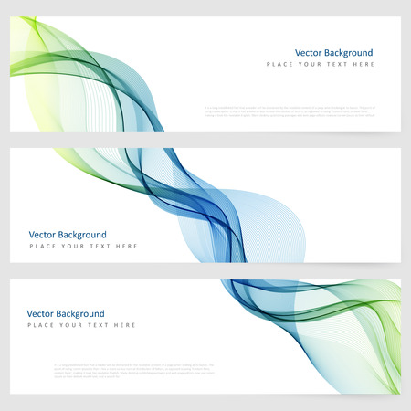 waves abstract: Abstract template horizontal banner with transparent smoke