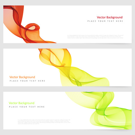 banner effect: Abstract template horizontal banner with transparent smoke