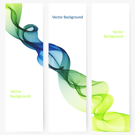 template: Abstract template vertical banner with transparent smoke Illustration