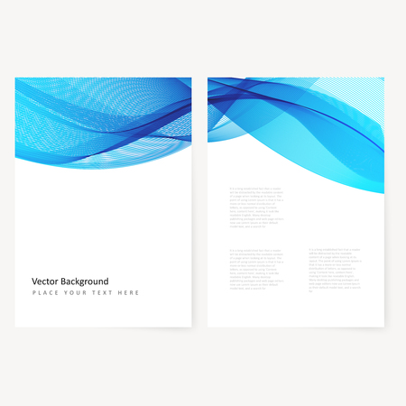 brochure cover design: Abstract template color flyer with transparent waves