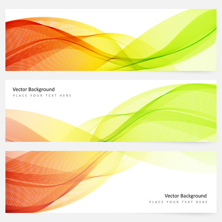 waves: Abstract template horizontal banner with transparent waves