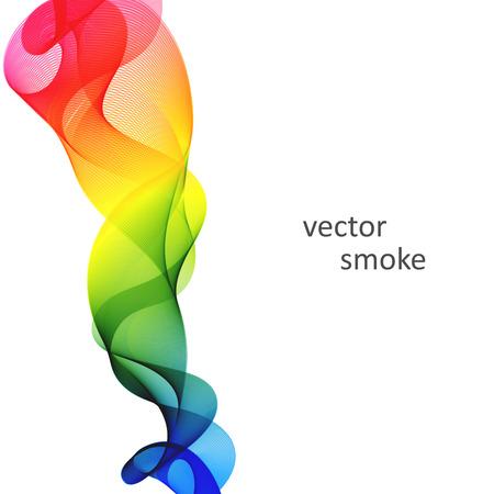 Abstracte vector kleurrijke achtergrond met transparante rook Stock Illustratie