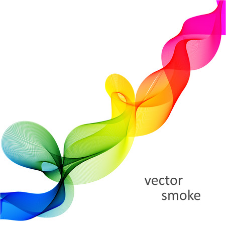 range of motion: Abstract vector colorful background with transparent smoke