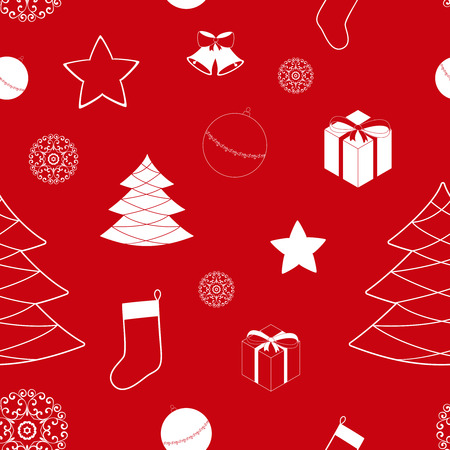 abstract family: Christmas background with bells, seamless pattern. May be used as packing