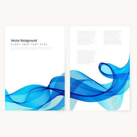 digital art: Abstract template horizontal banner with transparent waves
