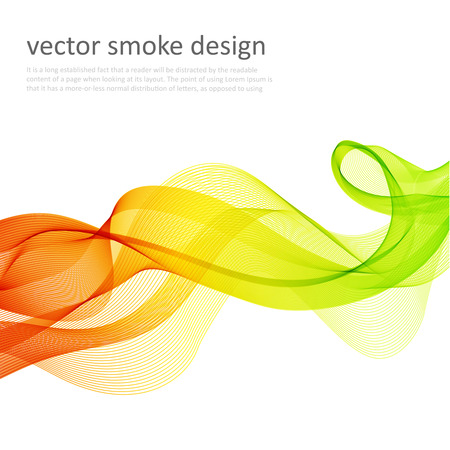 透明な煙で抽象的なベクトルのカラフルな背景