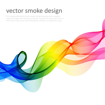 color illustration: Abstract vector colorful background with transparent smoke