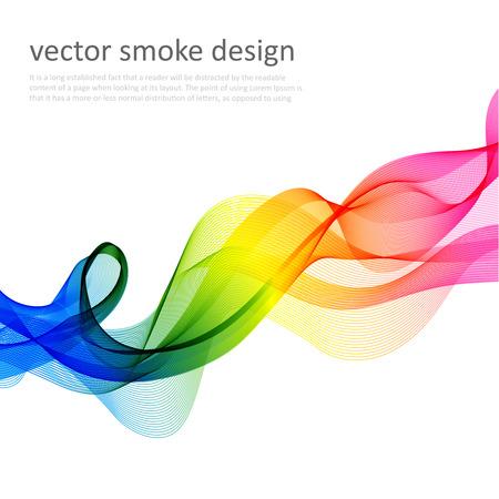 arco iris: Fondo colorido abstracto del vector con el humo transparente