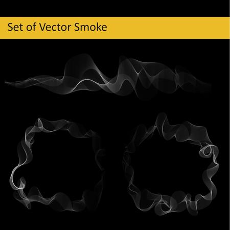 抽象的なベクトル透明なタバコの煙を設定します。