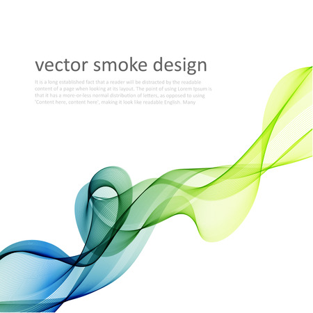green lines: Abstract vector colorful background with transparent smoke