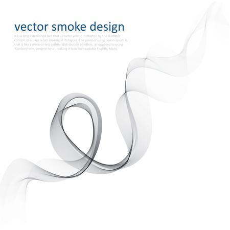 タバコの煙と抽象的なベクトルのモノクロ背景