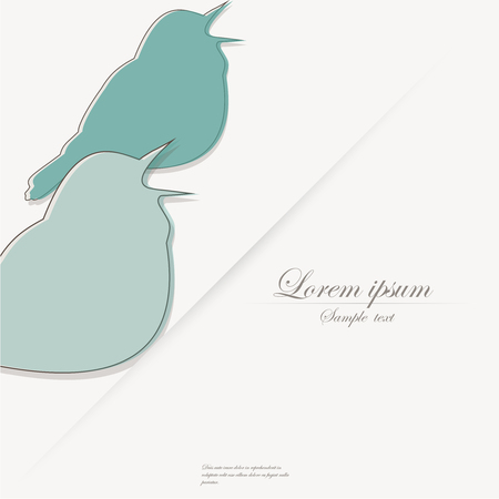 birdsong: Template of brochure with stylized bird