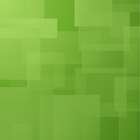 Abstract background with green layered rectangles Stock Photo