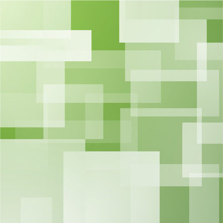 layered: Abstract background with green layered rectangles Stock Photo