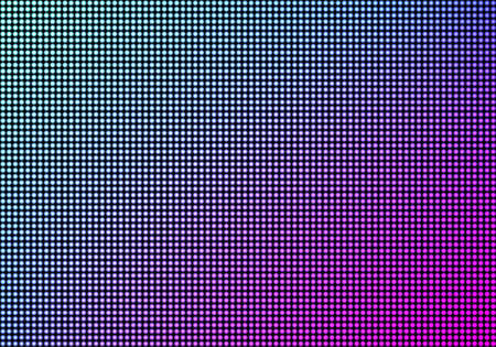 LED video wall screen texture background, blue and purple color light diode dot grid tv panel, lcd display with pixels pattern, television digital monitor, Realistic 3d vector illustration