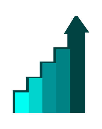 Abstract chart, financial graph, analytics element cartoon vector illustration