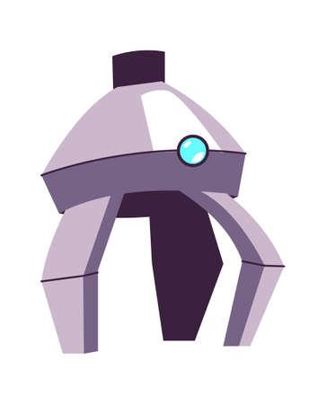 Metal arm for manipulation, part of a robot or industrial machine, cartoon vector illustration Иллюстрация