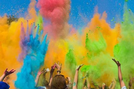 Color powder festival