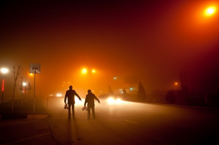 soft hail: fog in the city