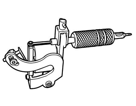 Tattoo machine icon Illustration