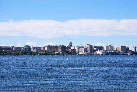 Madison Wisconsin skyline Stock Photo
